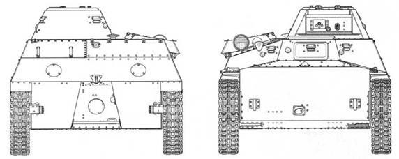 Чертежи легкого неплавающего танка Т-40С. Представлен нерадиофицированный вариант с 20-мм пушкой ШВАК/ТНШ. Масштаб 1:35.