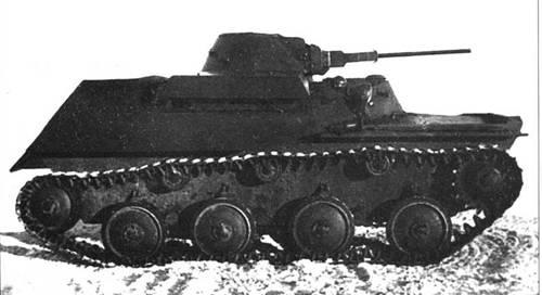 Фотографии плавающего танка Т-40 с 23-мм пушкой ПТ-23ТБ. Вид спереди и на правый борт.