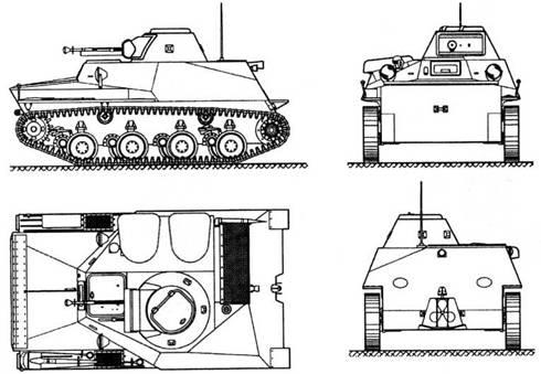 Проектный чертеж опытного танка 010.