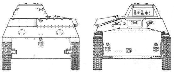 Чертежи легкого неплавающего танка Т-30. Представлен нерадиофицированный вариант с 20-мм пушкой ШВАК/ТНШ.