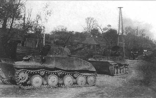 Танки Т-40 из 142-й танковой бригады Красной Армии, подорванные своими экипажами из-за отсутствия горючего. Брянский фронт, октябрь 1941 года.