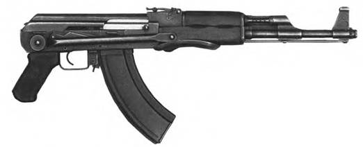 7,62-мм автомат Калашникова АКС со сложенным прикладом. Выпуск 19-49-1951гг.