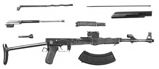 Неполная разборка 7,62-мм автомата Калашникова АКС.