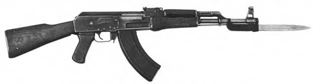 7.62-мм облегченный автомат Калашникова АК со вторым образном шгык-ножа 6x2.