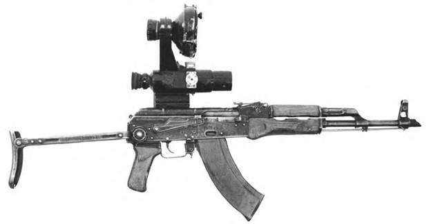 7,62-мм автомат Калашникова АКМСН с ночным прицелом НСП-2.