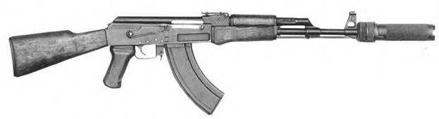 7,62-мм облегченный автомат Калашникова АК-47 с прибором для бесшумно-беспламенной стрельбы ЛВС.