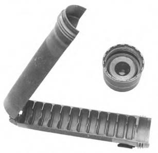 Прибор для бесшумно-беспламенной стрельбы ИВС в разобранном виде (разложенный на две части)