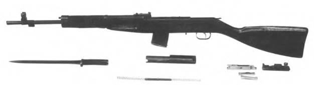 Неполная разборка 7,62-мм самозарядного карабина конструкции Г.С. Гаранина.