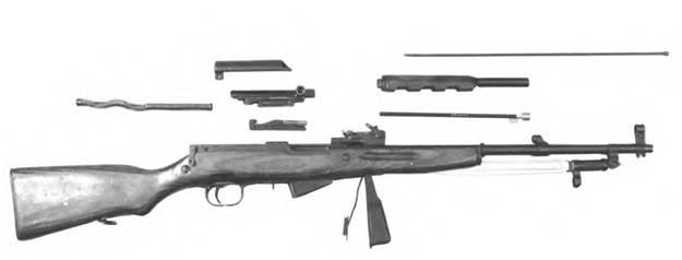 Неполная разборка 7,62-мм самозарядного карабина Симонов;» СКС.