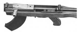 Затвор с затворной рамой и возвратным механизмом 7,62-мм автомата Коровина.