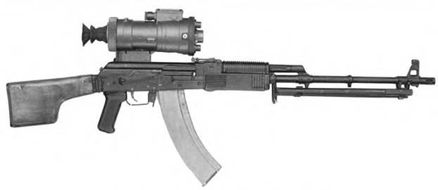 5,43-мм ручной пулемет Калашникова РПКН74Н2 с прицелом НСПУМ.