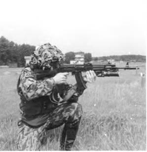 Стрельба из АК74 с подствольным гранатометом ГП-25 «Костер». Курсы «Выстрел». 1998г.