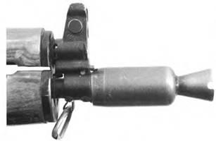 Усиленный пламегаситель 5,45-мм автомата Калашникова АКС-74У (ранний вариант).
