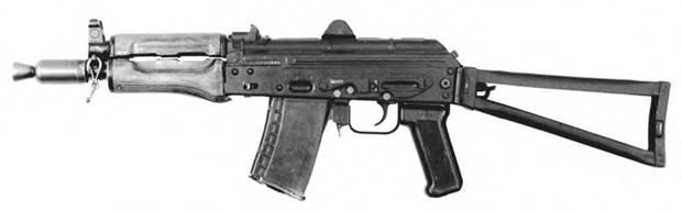 5.45-мм автомат Калашникова АКС74УН с откинутым прикладом. Опытный образец 1978г.