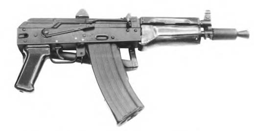 5,45-мм автомат Калашникова со складывающим прикладом АКС74У. Опытный образец 1978г.