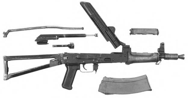 Неполная разборка 5,45-мм автомата Калашникова АКС74У.