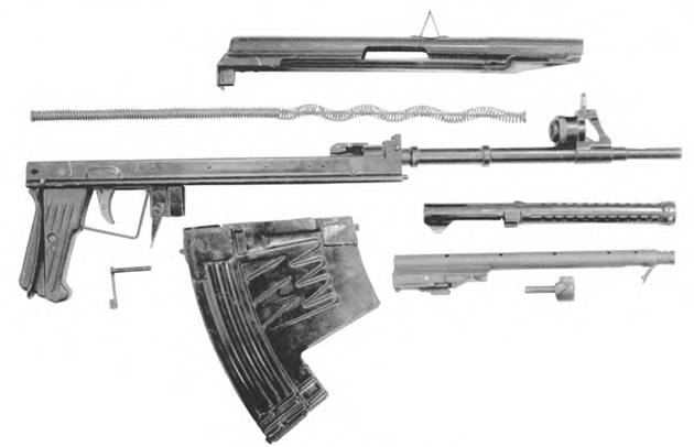 Неполная разборка 5,66-мм автомата АПС.