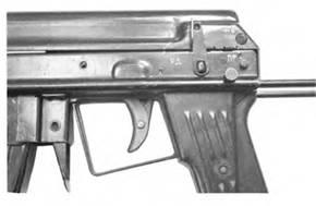 Органы управления 5.66-мм автомата АПС.
