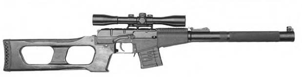 9-мм снайперская самозарядная винтовка ВСС.