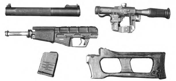 9-мм снайперская специальная винтовка ВСС. Неполная разборка.