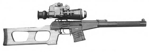 9 мм снайперская специальная винтовка ВСС с ночным прицелом МБНП-1.