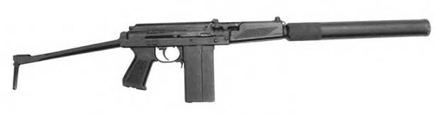 9-мм автомат 9А91 выпуска 1995г. с откинутым прикладом.