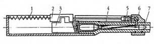 Схема работ ы оружия с отводом пороховых газов: