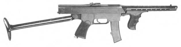 7.62-мм пистолет-пулемет Калашникова. Опытный образец 1942г.