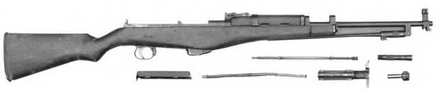 Неполная разборка 7,62-мм самозарядного карабина Калашникова.