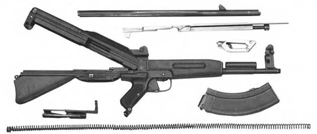 Неполная разборка 7,62-мм автомата Коробова ТКБ-408.