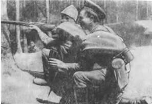 6.5-мм автомат Федорова образца 1916г. на Румынском фронте. 1916г.