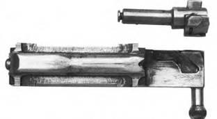 Затвор и затворная рама 7,62-мм автомата Калашникова АК-1 (АК-46 1).