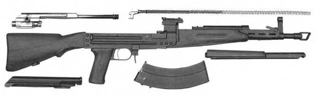 Неполная разборка 7,62-мм автомата Булкина ТКБ-415.