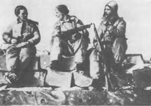 6,5-мм автомат Федорова обр. 1916г. на вооружении развелчиков. Карельский фронт. Февраль. 1940г.