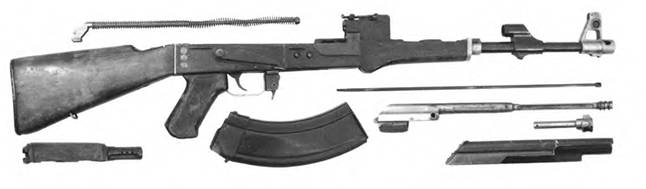 Неполная разборка 7,62-мм автомата Калашникова КБ-П-580.