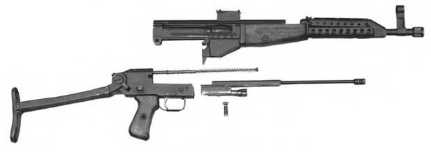 Неполная разборка 7,62-мм автомата Дементьева АДС-47.