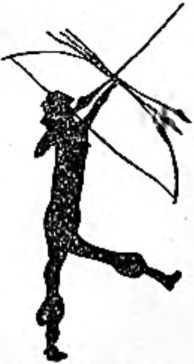 Первобытный стрелок из лука. Рисунок на стене пещеры Сальтадора Испании.