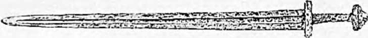Древний железный меч. Найден в одной из славянских могил