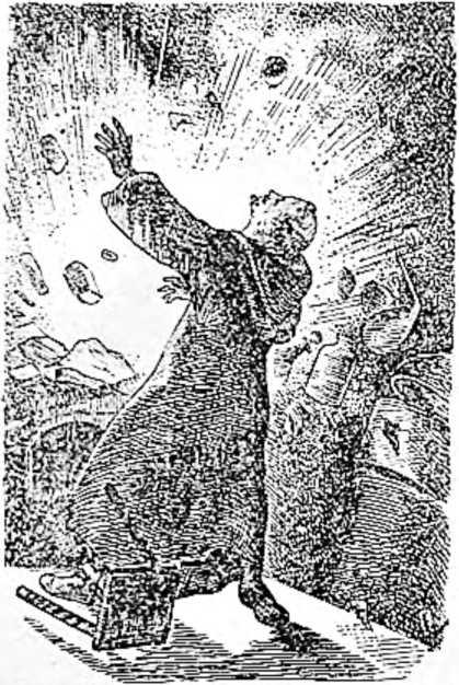 Монах Шварц погибает при взрыве изобретенного им пороха