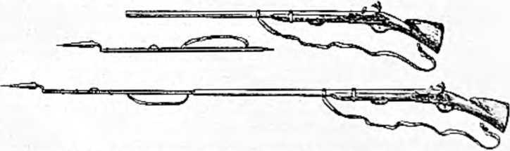 Первый штык — кусок пики, воткнутый в ствол мушкета