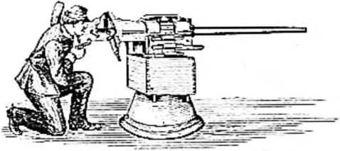 Первый пулемет-пушка Максима (1883 год).