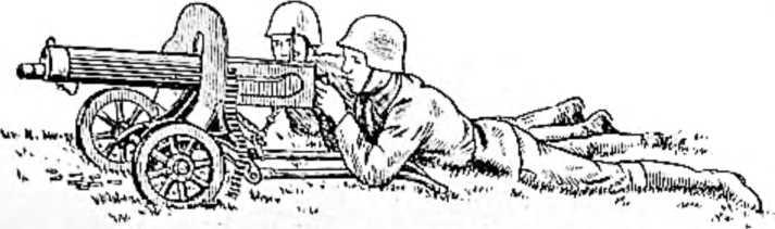 Современный пулемет Максима, находящийся на вооружении в Красной армии