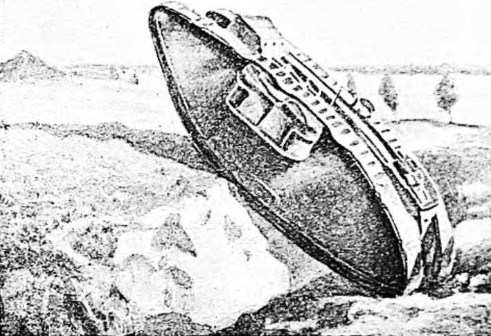 Танк «М-IV» взбирается на ступень высотой в полтора метра