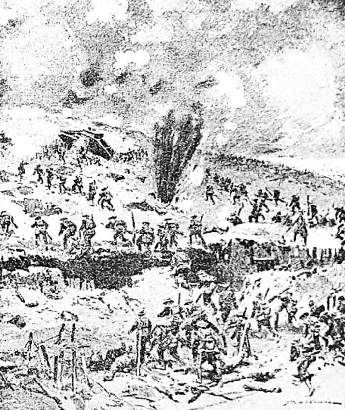 Танк «М-V» в бою под Амьеном 8 августа 1918 года