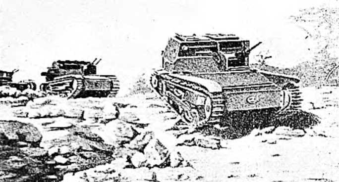 Итальянские танки в Абиссинии захватили колодец с питьевой водой