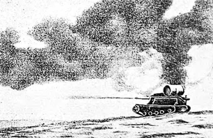 Итальянский танк с огнеметом в Абиссинии