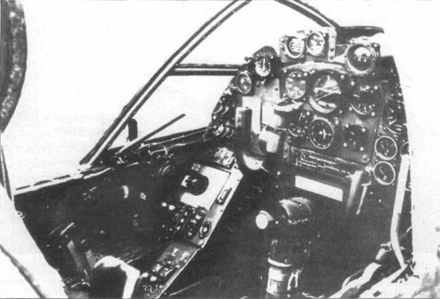 Кабина Do 335V3. Ее интерьер несколько отличался от интерьера кабины серийных Do 335А.