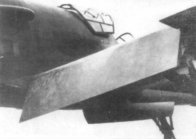 Закрылок Do 335 V3. Обратите внимание на то, как открывался фонарь кабины у этого самолета.