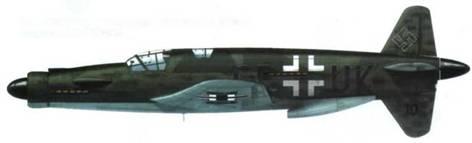 Do 335M10(V10), реконструкция. Прототип Do 335А-6, камуфляж RLM 74/75/76.