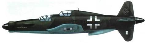 Do 335М11, прототип А-11, камуфляж RLM 81/82/65, увеличенные опознавательные знаки.